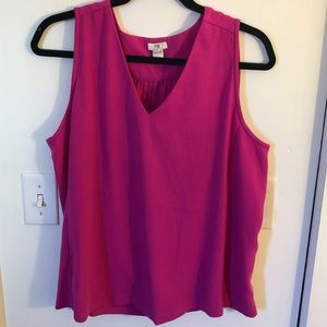 JCrew Size 12 Pink Tank Blouse JUST DRY CLEANED!